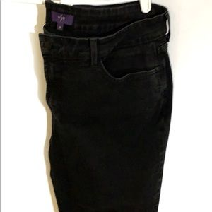 NYJD Marilyn Straight Black Jeans Size 14